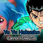 Yu Yu Hakusho Filler List + Canon List