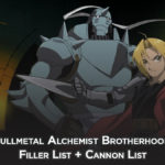 Fullmetal Alchemist Brotherhood Filler List + Cannon List